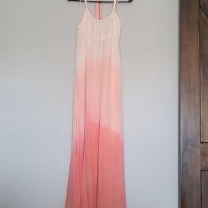 Anthropologie Ombre Silk Dress